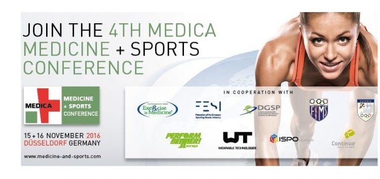 4. MEDICA MEDICINE + SPORTS CONFERENCE am 15. und 16. November in Düsseldorf