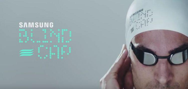 """""""Blind-Cap"""": High-Tech-Schwimmkappe revolutioniert Wende für blinde paralympische Schwimmer"""