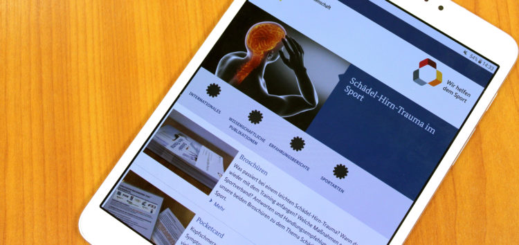 """Einen kühlen Kopf bewahren – Neue Themenseite """"Leichtes Schädel-Hirn-Trauma"""" des BISp online"""